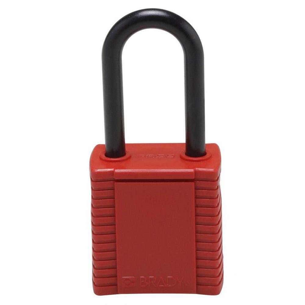 kit 50 cadeados vermelho haste e corpo plástico
