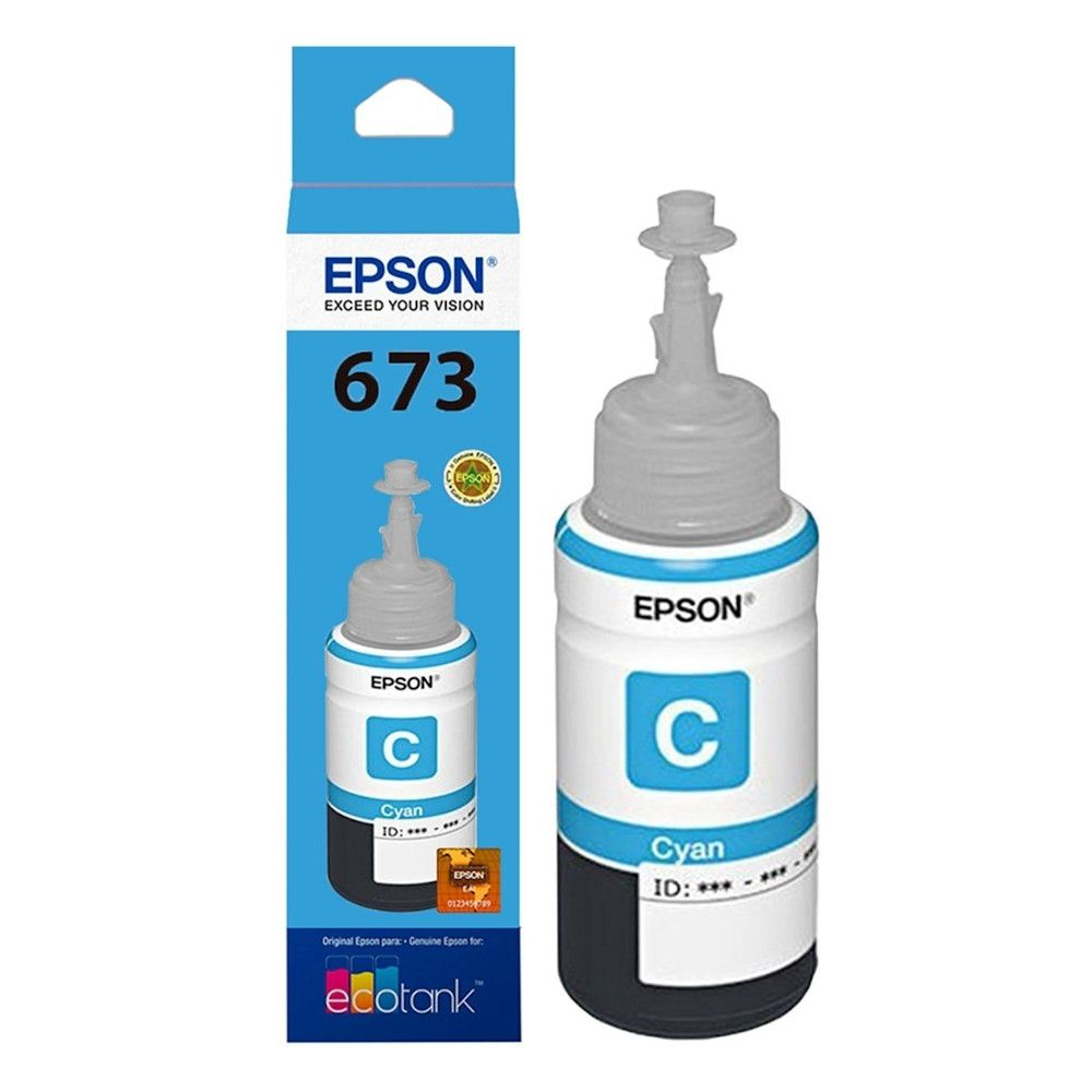 Kit 6 Cores Refil Epson T673 Todas as Cores Para L1800