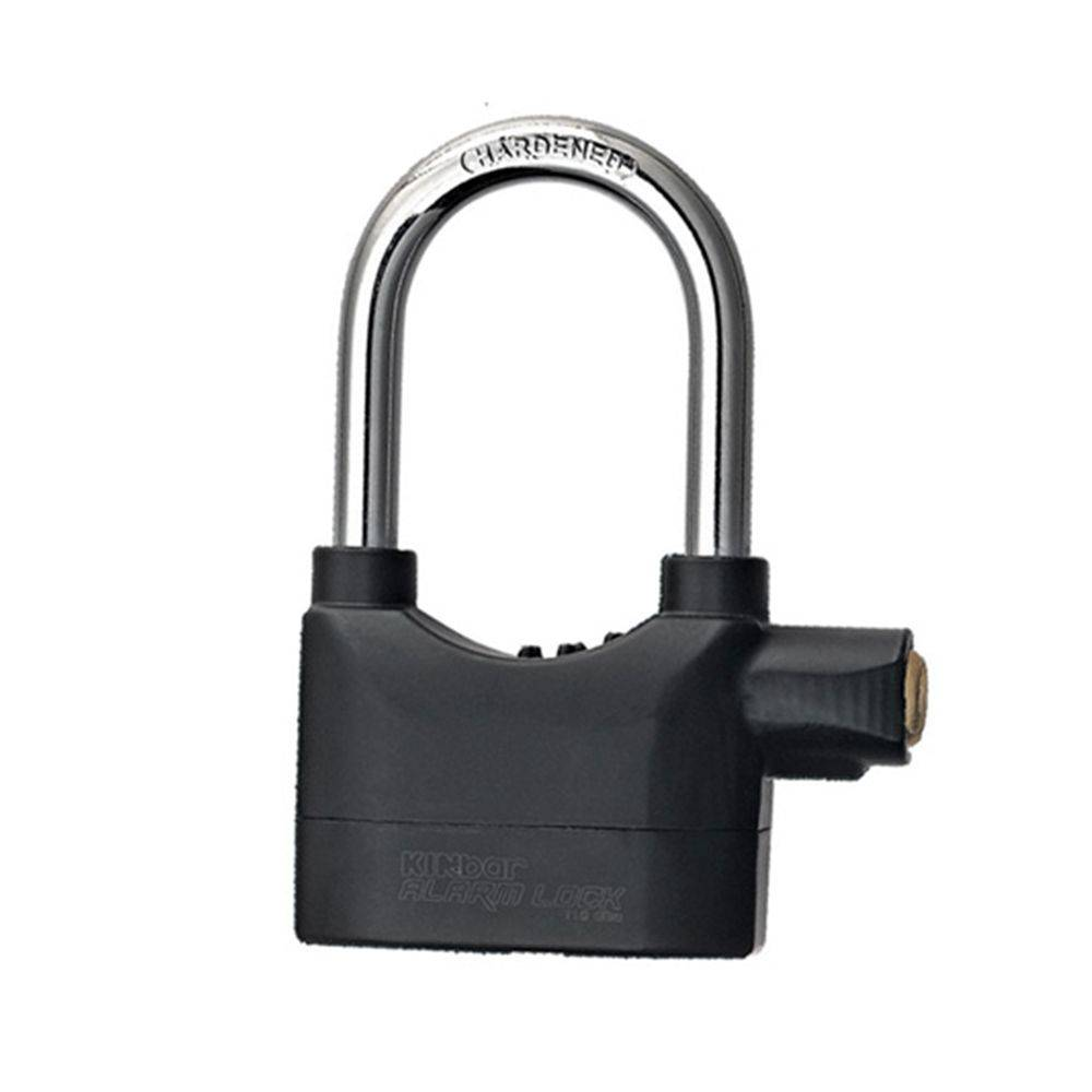 Kit 2 Cadeados Lock Alarm K102BH Preto com Alarme Sonoro