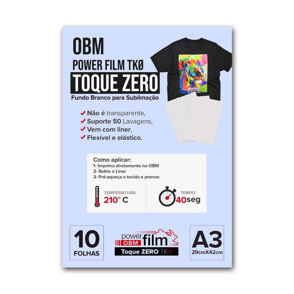 OBM Power Film TKØ Toque Zero Formato A3 10 folhas