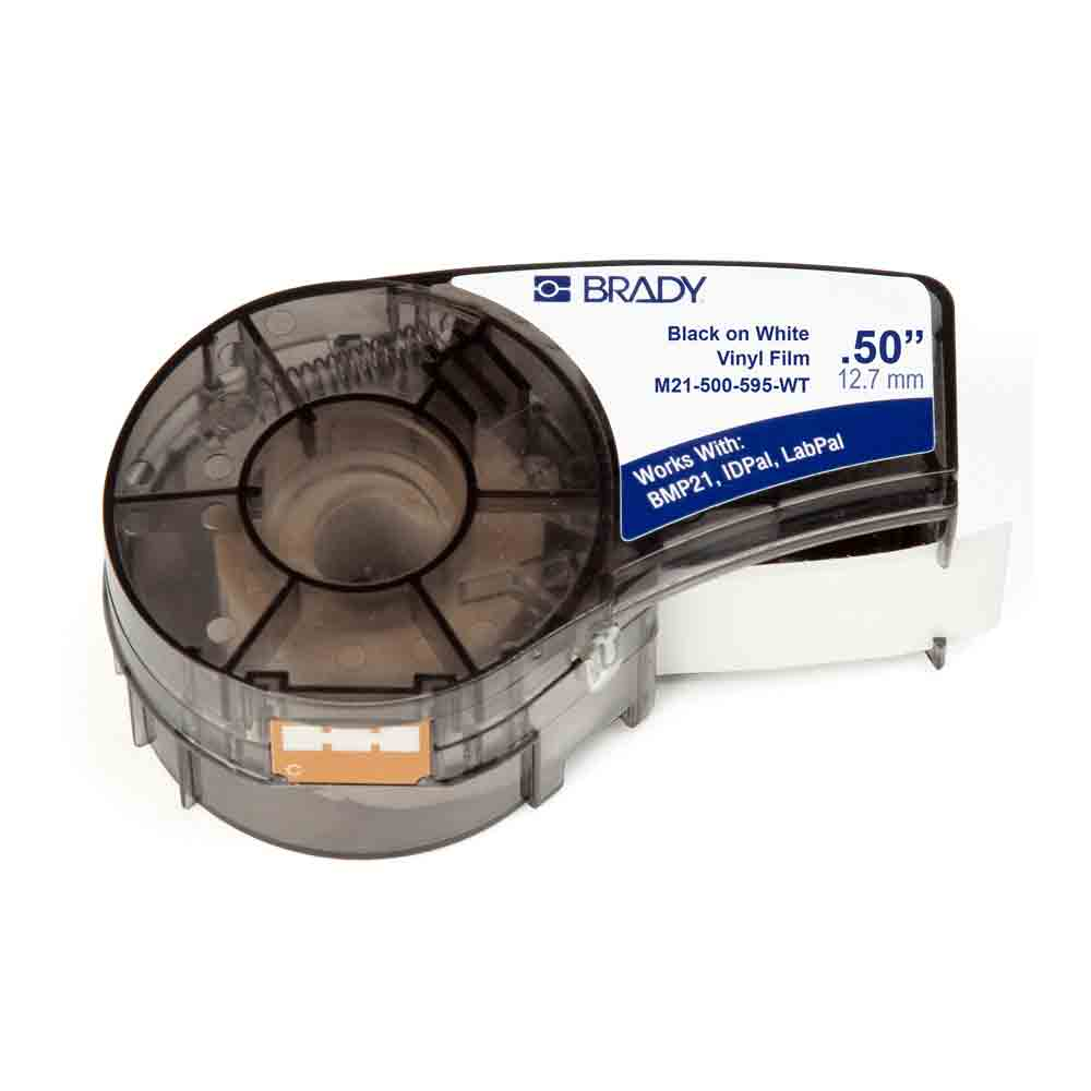 Pacote 2 Etiquetas Brady De Vinil Preto No Branco M21-500-595-wt Bmp21