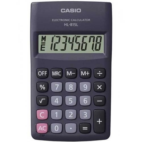 Pacote 3un Calculadora Casio HL-815L cor Preta 8 Digitos