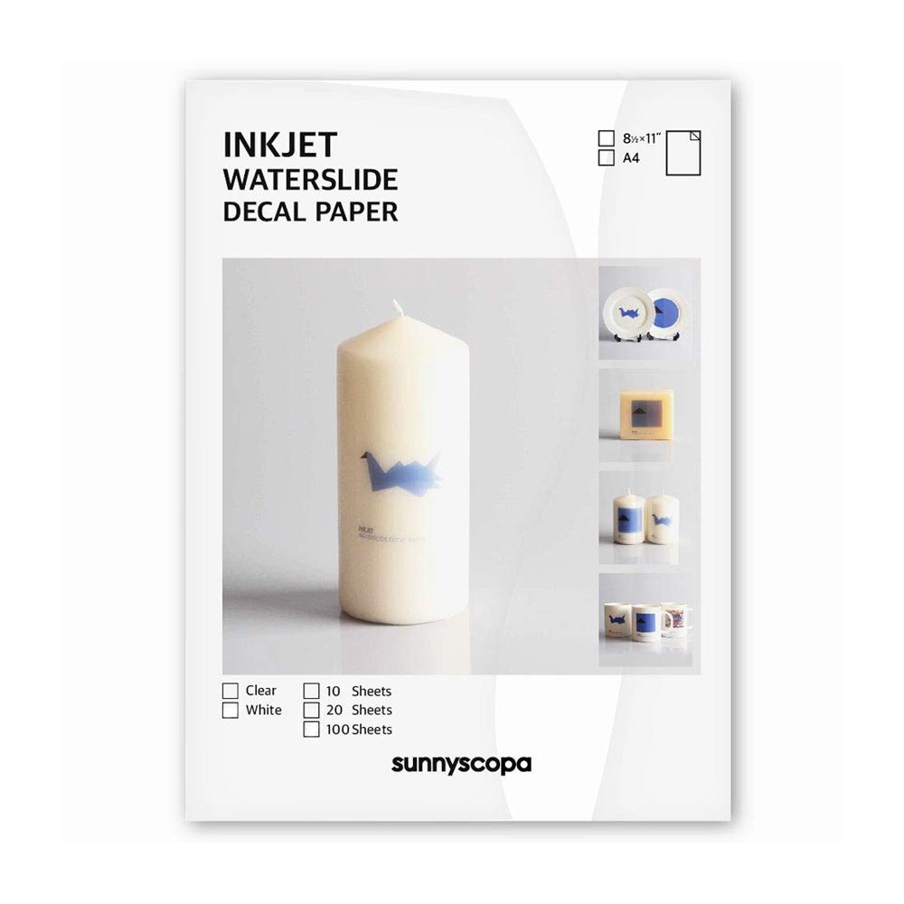 Papel Decalque INKJET Transparente A4 (pacote com 10 folhas)