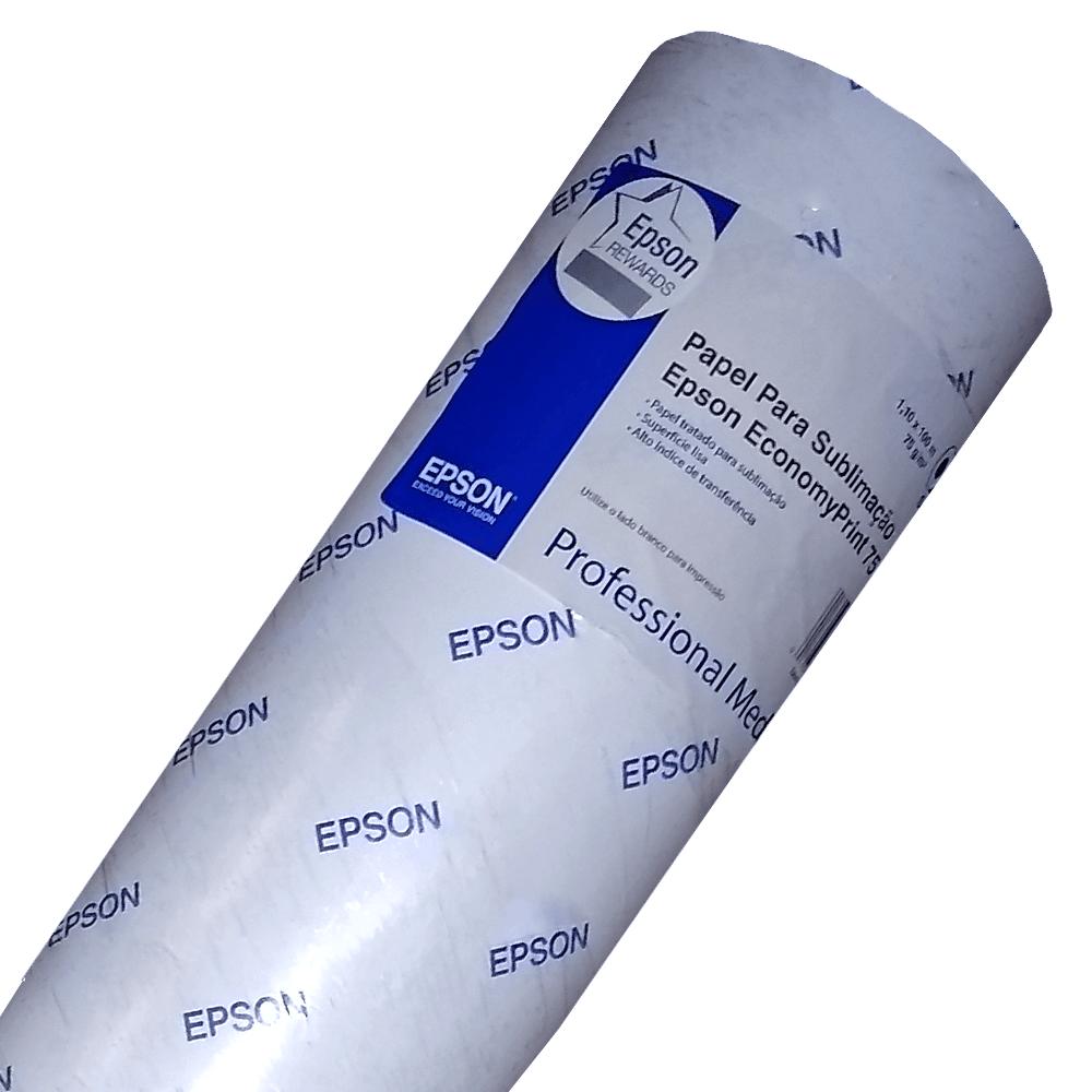 Papel Sublimático Epson Economy Print 75g Bobina 100x1,1m