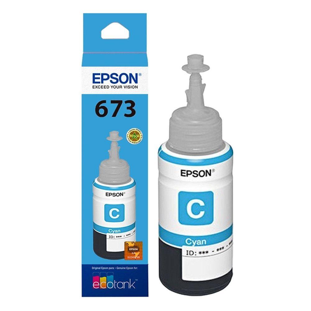 Refil de Tinta Ciano Epson T673220 L1800 L800