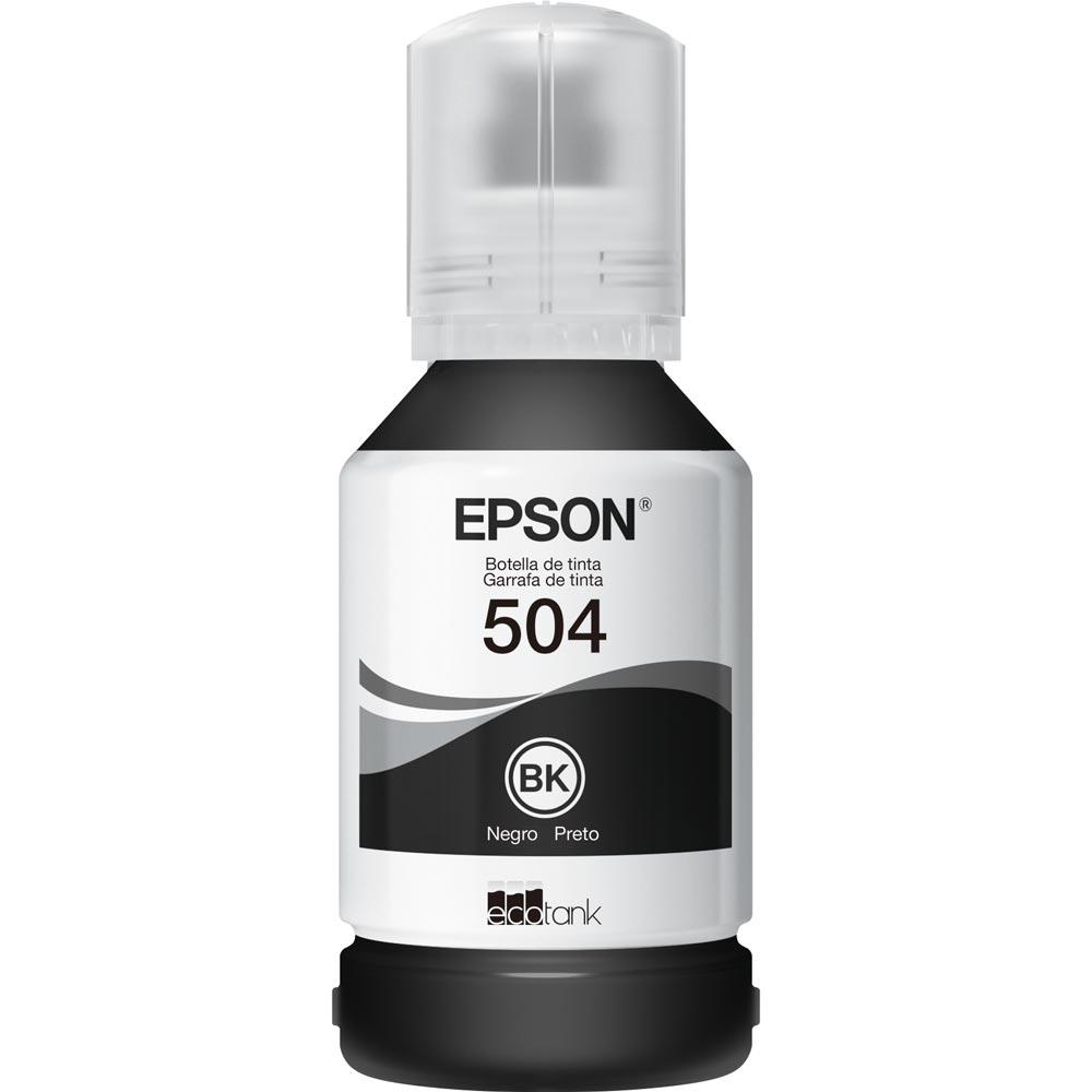Refil Epson T504 Preto L4150 L4160 L6161 L6171 L6191