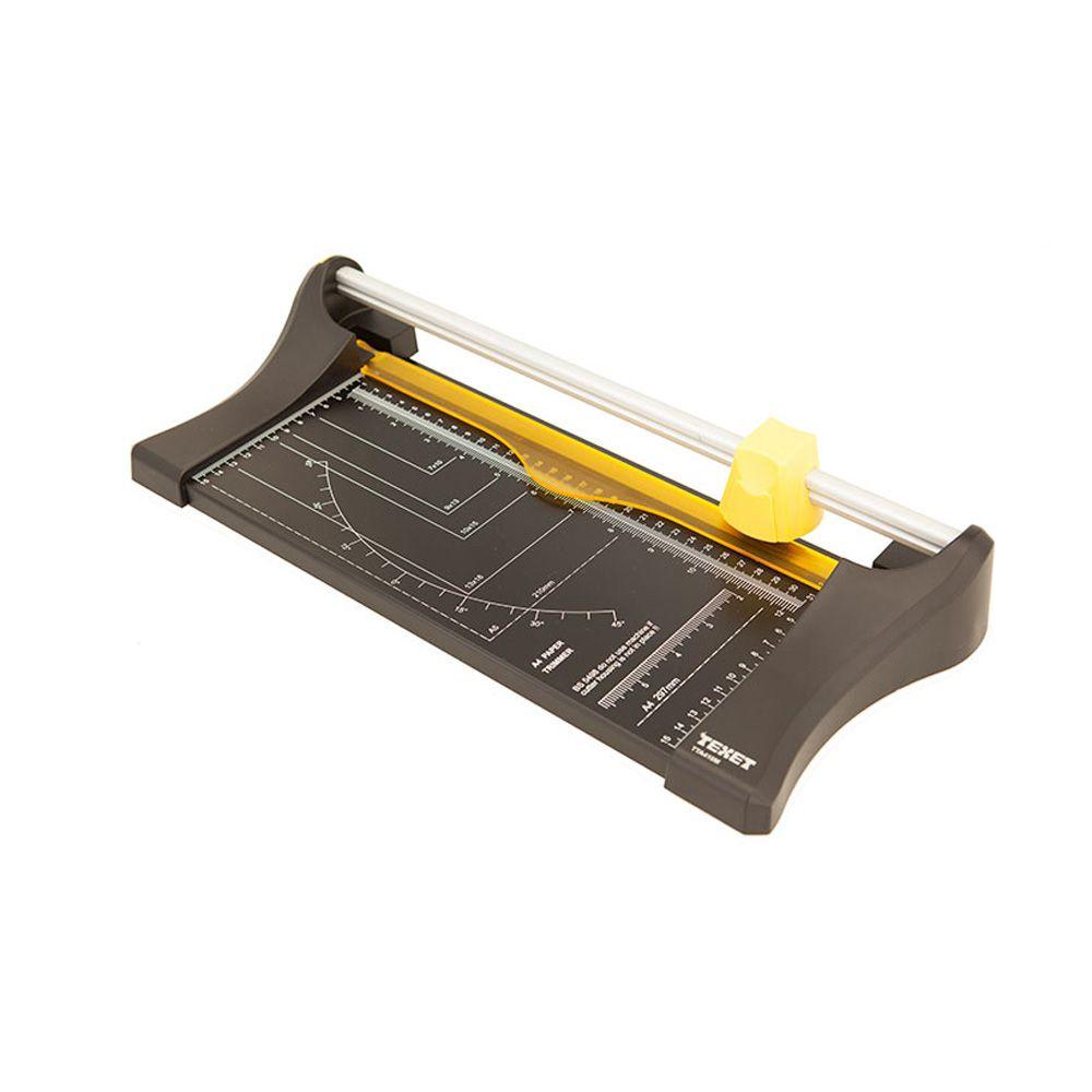 Refiladora de Papel A4 Compacta – Preta com Amarela