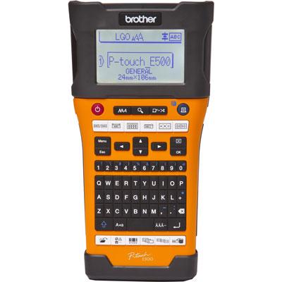 Rotulador Eletrônico Brother PT-E500 USB Bateria e Maleta