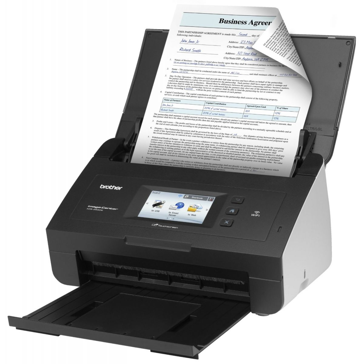 Scanner de Documentos de Alta Velocidade Brother ADS-2500WE