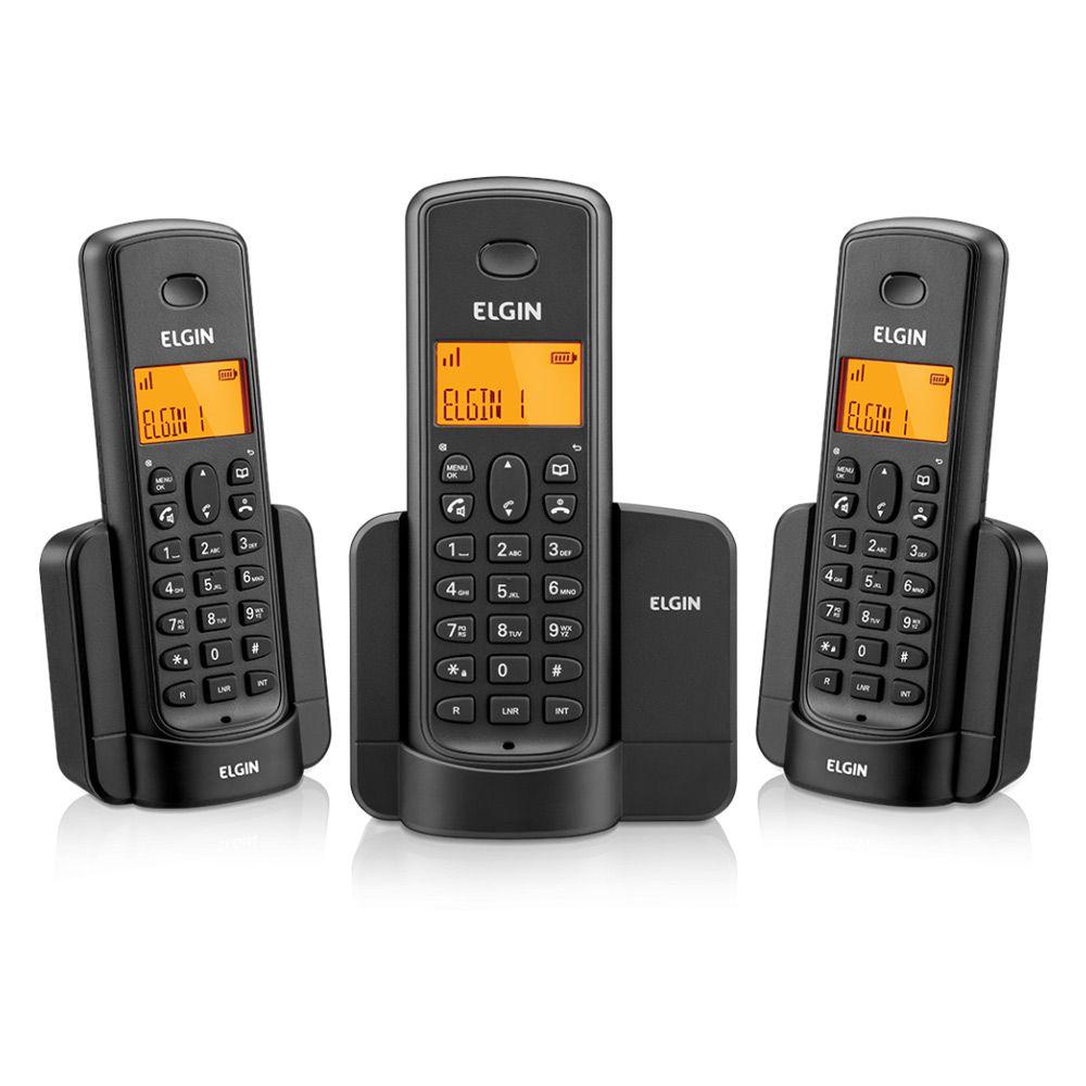 Telefone Sem fio Elgin TSF 8003 Preto 2 ramais