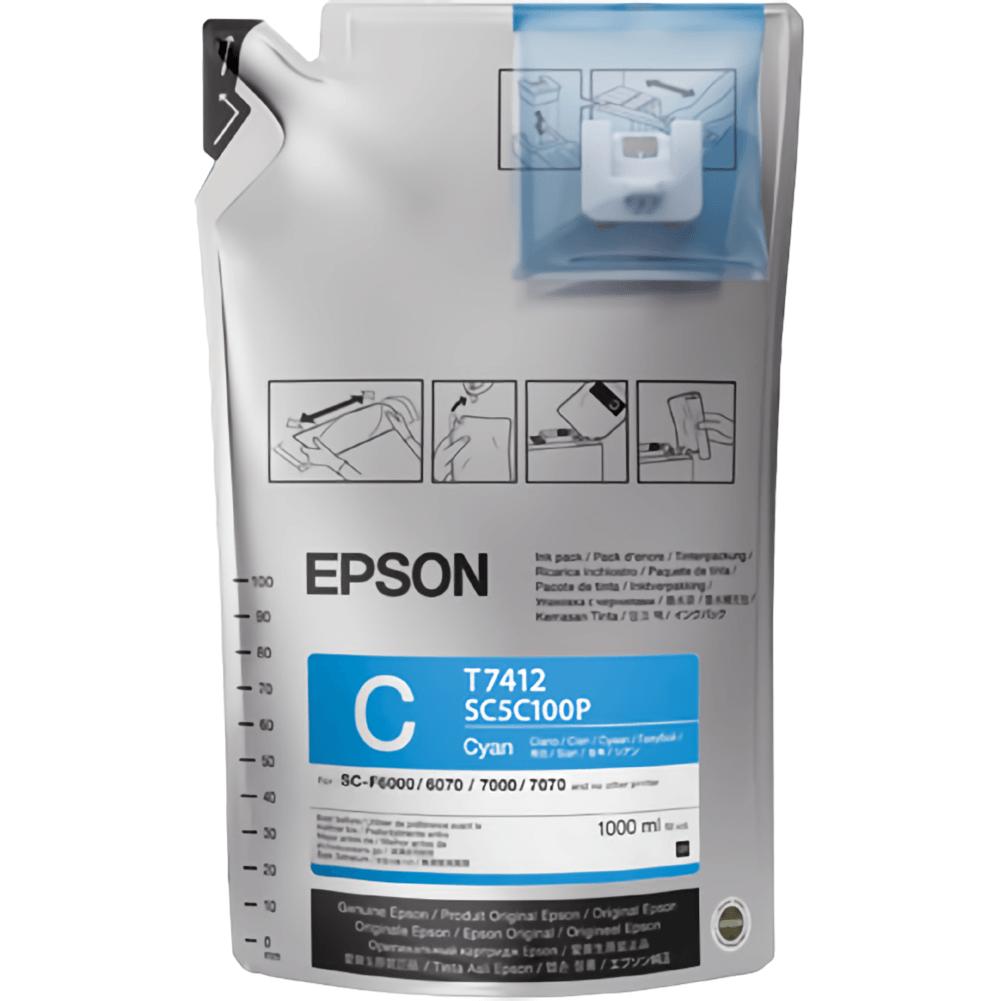 Tinta Sublimática Epson T741 Ciano Para F6070 F9370