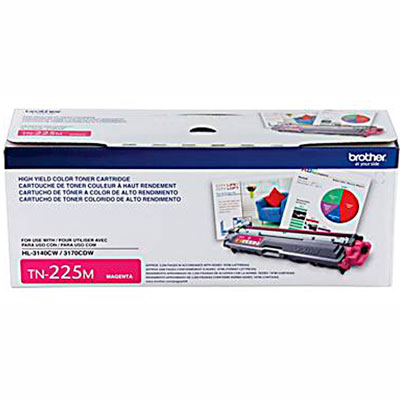 TN-225M Cartucho Toner Magenta Original Brother p/ 2200 pg