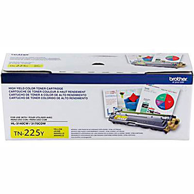 TN-225Y Cartucho Toner Amarelo Original Brother p/ 2200 pg