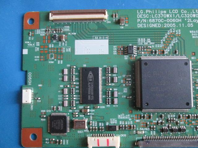 T-CON LG MODELO 37LC2RR / LC370WX1 / LC320W01 CÓDIGO 6870C-0060H  - Jordão R.Camacho