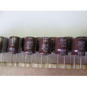 10 UNIDADES CAPACITOR ELETROLÍTICO RADIAL 470uF 16V 105º