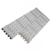 KIT 10 BARRAS DE LED SAMSUNG - Modelos: UN40JU6000 / UN40JU6020 / UN40JU6500 / UN40JU6700 / UN40KU6000 | Código: LM41-00120R / LM41-00120S