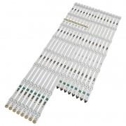 KIT 16 BARRAS DE LED SAMSUNG - Modelo UN65JU6000 / 6500G | Código 8x LM41-00109V 38116 8x LM41-00109W 38115