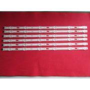 KIT 6 BARRAS DE LED SAMSUNG LM41-00109Z MODELO UN48JU6000G