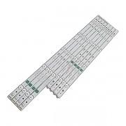 KIT 8 BARRAS DE LED LG - Modelos 49LJ5500 / 49LJ5550 / 49LJ6300 | Código GAN01-1294A-P1 / GAN01-1295A-P1