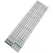 KIT 8 BARRAS LED LG - Modelo 49LH5150 | Código 4X 49LH51_FHD_A + 4X 49LH51_FHD_B
