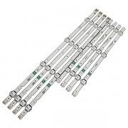 KIT 8 BARRAS LED SAMSUNG - Modelo UN43J5290AG | Código LM41-00622A / LM41-00624A 46570A / 46571A