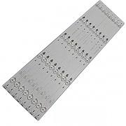 KIT 8 BARRAS DE LED TCL - Modelos: 48D2700 / L48S4700 | Código: TOT_48D2700_8X5_3030C_V3