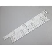 KIT INCOMPLETO 6 BARRAS LED TCL L49S4900 / L49S4900FS CÓDIGO 4X 2D02899 2X 2D02900 REV. B