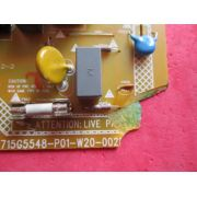 PLACA FONTE PHILIPS 42PFL3507D/78 715G5548-P01-W20-002M CONEXÃO BRANCA PONTA QUEBRADA FUNCIONANDO