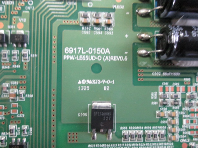 PLACA INVERTER LG MODELO 65LA9650 CÓDIGO 6917L-0150A /  PPW-LE65UD-O (A)REV0.6