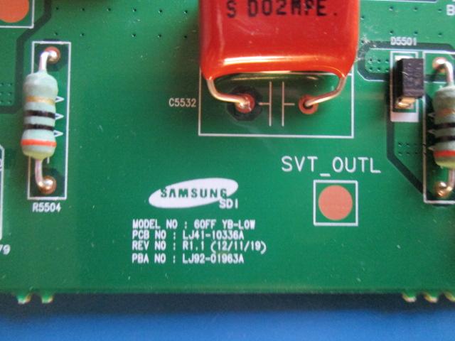 PLACA BUFFER SAMSUNG PL60F5000AG  LJ41-10336A / LJ92-01963A  COM CAPACITORES AZUIS