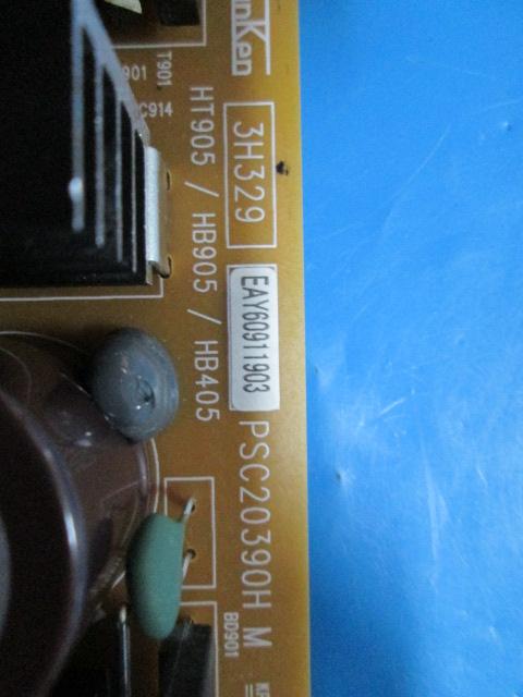 PLACA FONTE SOM HOME THEATER LG EAY60911903 / PSC20390H M / 3H329 MODELO HB405 / HB905 / HT905 NOVA