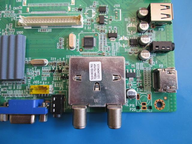 PLACA PRINCIPAL H-BUSTER MODELO HBTV-32L06HD CÓDIGO 5800-A5M70B-0P10 SEM PLUG