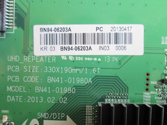 T-CON SAMSUNG BN41-01980A / BN94-06203A MODELO UA85S9AMXRD / SAMSUNG LED 3D UN85S9A 4K ULTRA HD/NET/40C