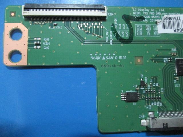 PLACA T-CON LG MODELO 49LF5100 / 49LF5400 / 49LX300C / 55PFG5100 CÓDIGO 6870C-0532B TESTADA