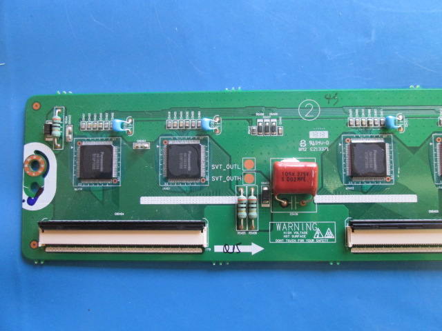 PLACA BUFFER TV SAMSUNG PL60F5000AG LJ41-10335A / LJ92-01962A COM CAPACITORES AZUIS.