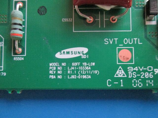 PLACA BUFFER SAMSUNG PL60F5000AG LJ41-10336A / LJ92-01963A