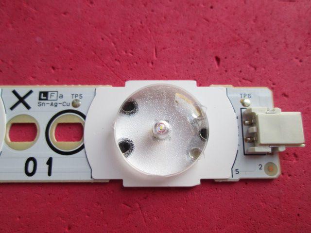 BARRA DE LED PHILIPS 40PFL6615D/78 / 40PFL5605D/78 CÓDIGO A665WJ-9X  01 PRETA COM 5 LEDS