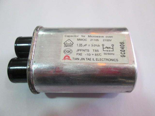 CAPACITOR MICRO ONDAS MWOC 21105 2100V 1,05uF +-3%b 50/60Hz -10/85ºC
