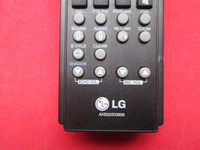 CONTROLE REMOTO ORIGINAL LG PARA DVD E HOME THEATER AKB32203606 SEMI NOVO