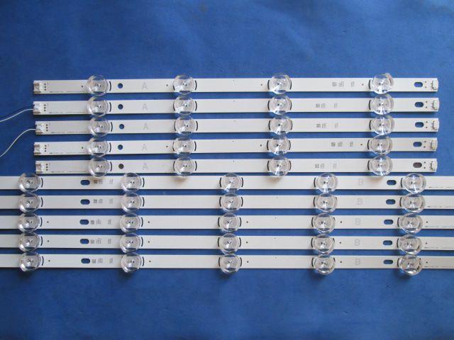 KIT 10 BARRAS LG 49LB5500 49LB6200 6916L-1788A A COM 4 LEDS - 6916L-1789A B COM 5 LEDS