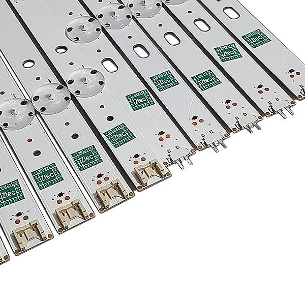 KIT 10 BARRAS LED LG 55LJ5500 55UJ6300 55UJ63_UHD_A / 55UJ63_UHD_B 55LJ55_FHD_A / 55LJ55_FHD_B