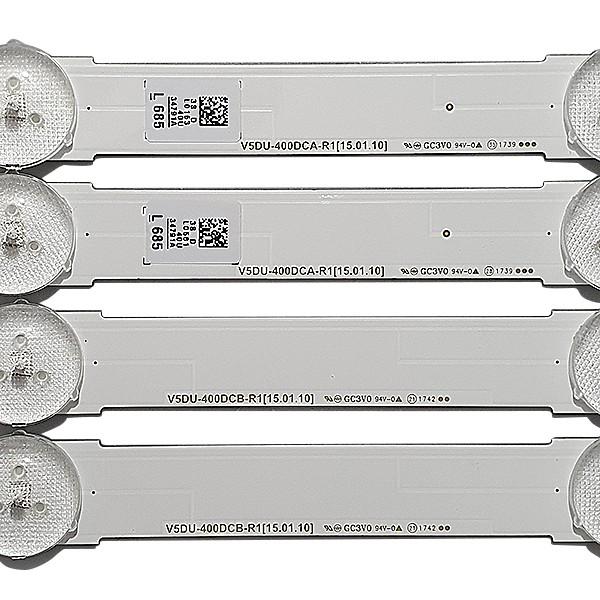 KIT 10 BARRAS DE LED SAMSUNG UN40MU6100G / UN40JU6700 V5DU-400DCA-R1 + V5DU-400DCB-R1 + BN96-34707A