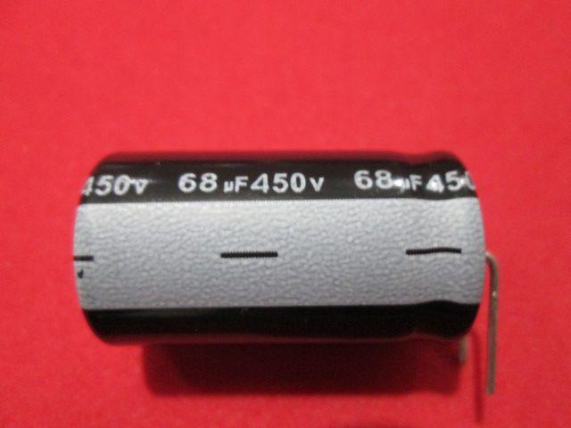 KIT 10 PÇS CAPACITOR ELETROLÍTICO 68uF x 450V 105º C DIAM. 18 MM X COMPR. 32 MM