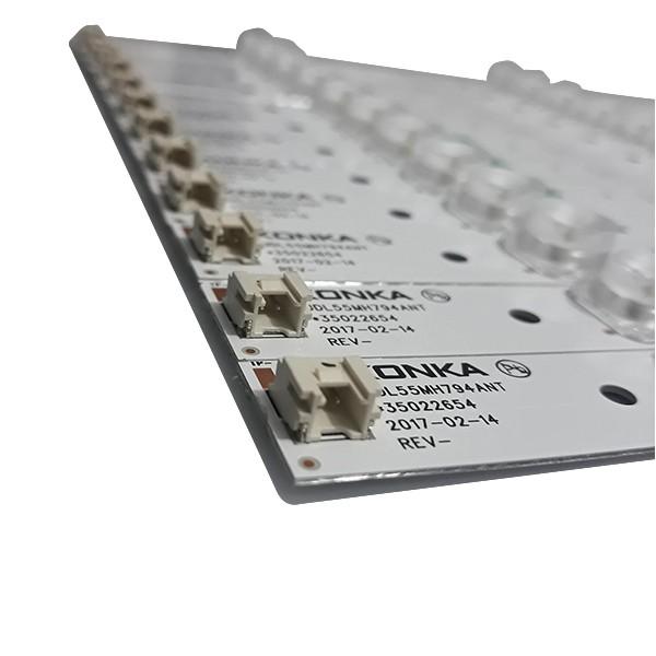 KIT 12 BARRAS DE LED TCL / Semp - Modelo 55K1US | Código 35022654 / UDL55MH794ANT