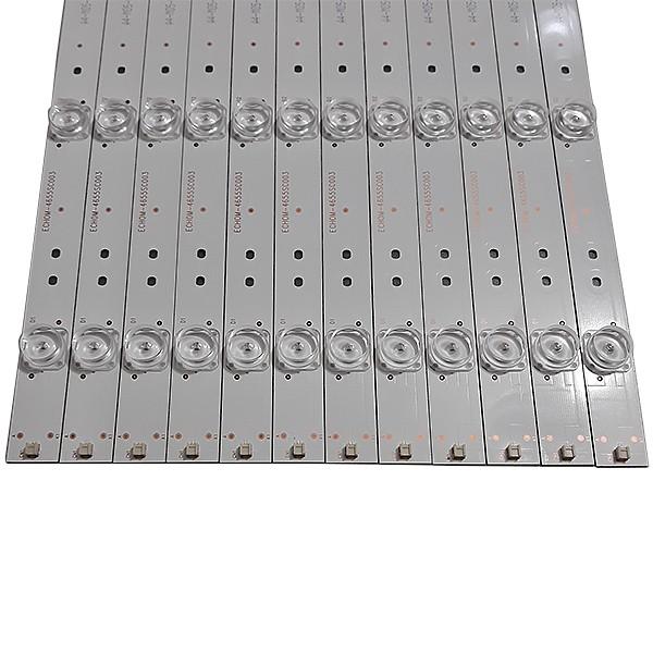 KIT 12 BARRAS DE LED TOSHIBA - Modelo 55L5400 | Código CRH-ES55C353506124B7REV1.1B / ECHOM-4655SC003