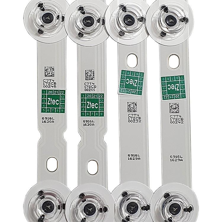 KIT 12 BARRAS LED PANASONIC - Modelo TC-55AS700B | Código 3x 6916L-1630A R1 / 3x 6916L-1743A R2 / 3x 6916L-1629A L1 3x 6916L-1741A L2