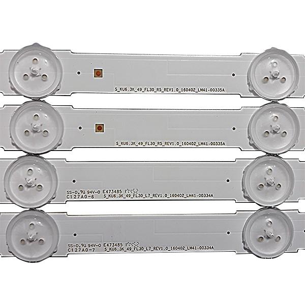 KIT 12 BARRAS LED SAMSUNG MODELO UN49KU6300G CÓDIGO LM41-00334A / LM41-00335A