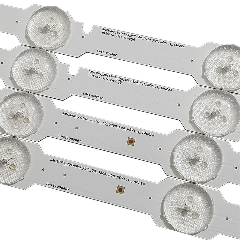 KIT 12 BARRAS LED SAMSUNG - Modelo UN50HU7000G | Código 6x LM41-00088Z / 6x LM41-00088Y