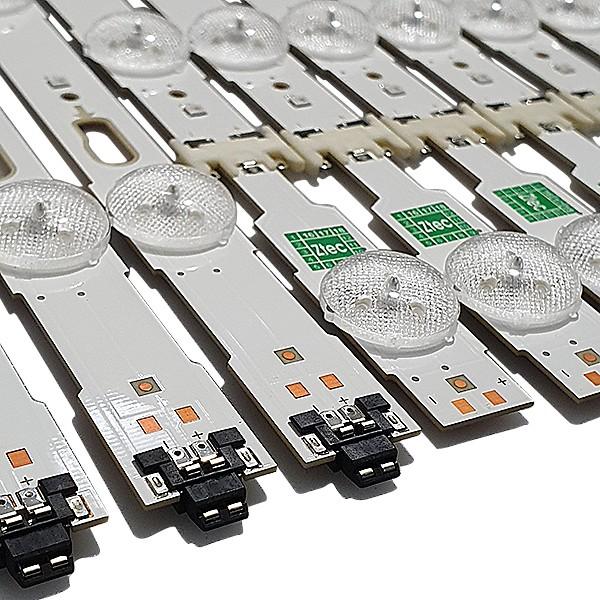 KIT 13 BARRAS DE LED SAMSUNG - Modelo UN55JU6000 | Código LM41-00136A + LM41-00135A + INTERFACE BN41-02378A