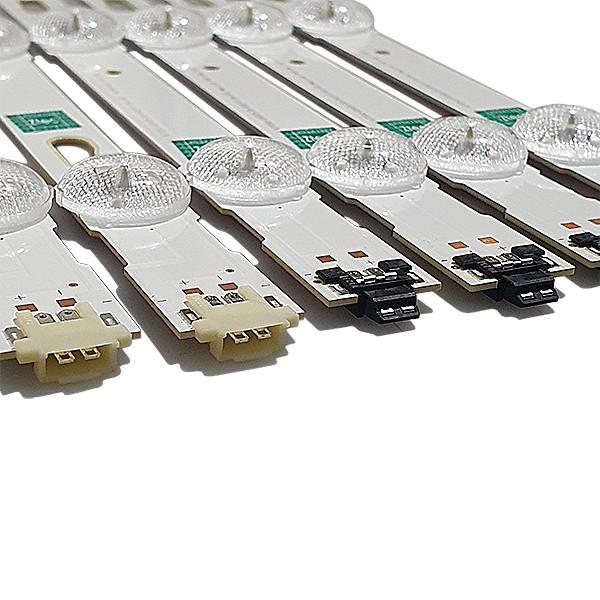 KIT 14 BARRAS LED SAMSUNG - Modelo UN58MU6120 / UN5MU6000 | Código 7x LM41-00516A / 7x LM41-00517A